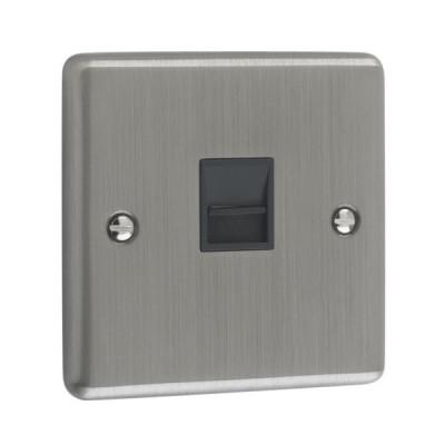 Telephone & RJ45 Outlets - Windsor Brushed Chrome