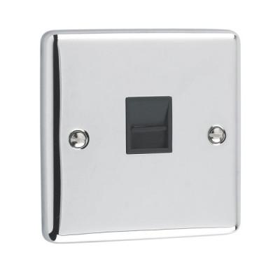 Telephone & RJ45 Outlets - Windsor Polished Chrome
