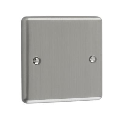 Blanks & Shaver Socket - Windsor Brushed Chrome