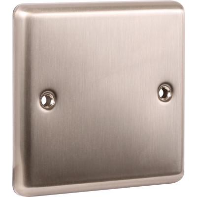 Blanks & Shaver Socket - Windsor Brushed Steel