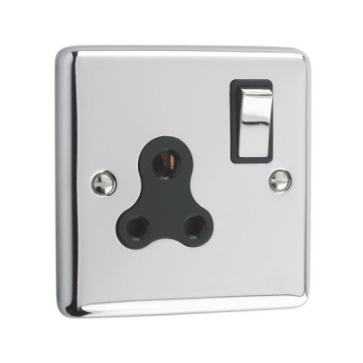 Un-Switched Sockets - Windsor Polished Chrome