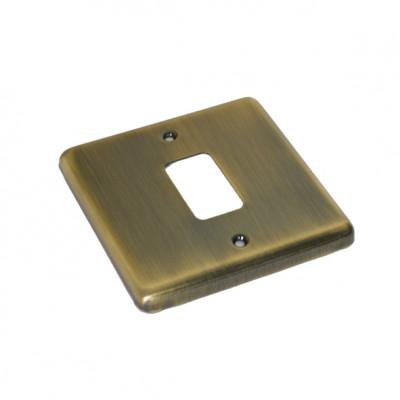 Windsor Antique Brass Grid Plates