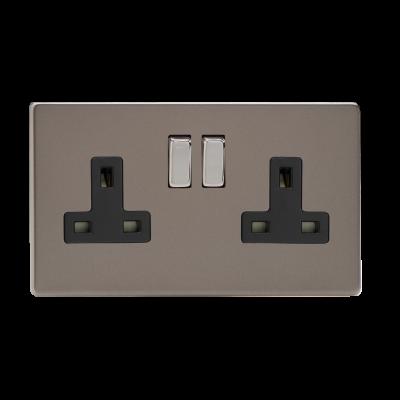 Plug Sockets - Varilight Pewter