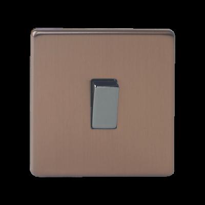 Light Switches - Varilight Brushed Bronze