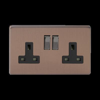 Plug Sockets - Varilight Brushed Bronze