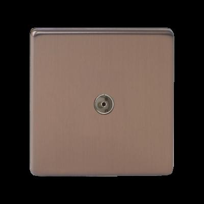 TV Outlets - Varilight Brushed Bronze