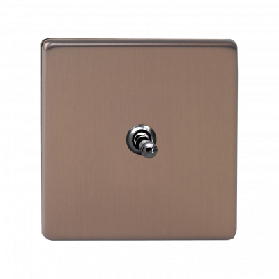 Varilight Toggle Switches Brushed Bronze