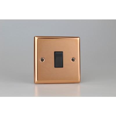 Varilight Copper 1-Gang 10A 1- or 2-Way Rocker Switch