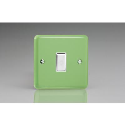 Varilight 1 Gang 10a Light Switch - Beryl Green XY1W.BG