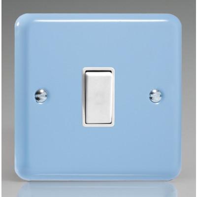 Varilight 1 Gang 10a Light Switch - Duck Egg Blue XY1W.DB