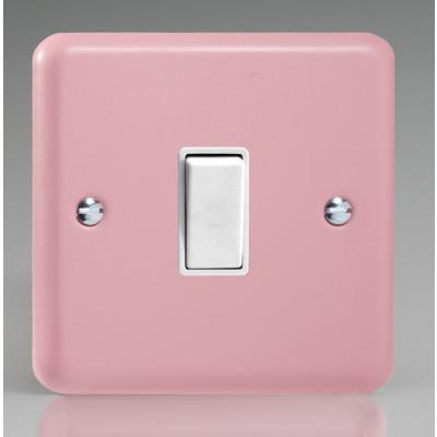 Varilight 1 Gang 10a Light Switch - Rose Pink XY1W.RP