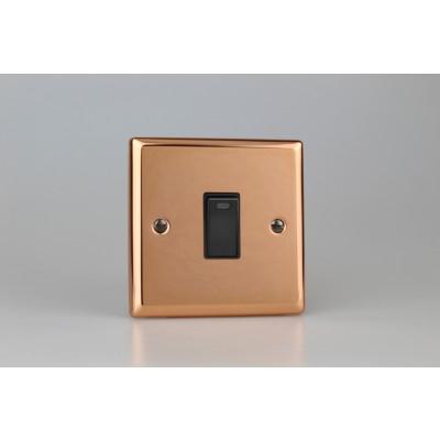 Varilight Copper 1-Gang 20A Double Pole Rocker Switch + Neon Indicator Light