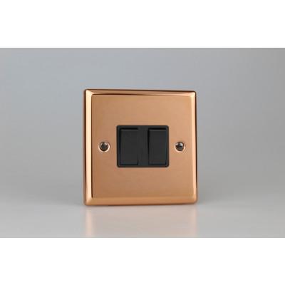 Varilight Copper 2-Gang 10A 1- or 2-Way Rocker Switch