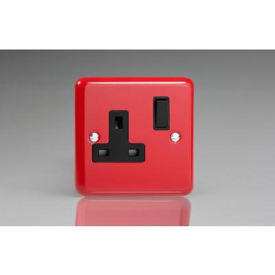 Varilight 1 Gang 13a Socket - Pillar Box Red XY4B.PR