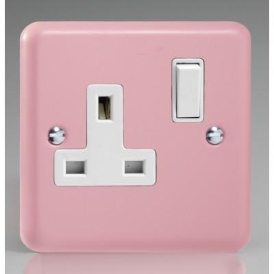 Varilight 1 Gang 13a Socket - Rose Pink XY4W.RP