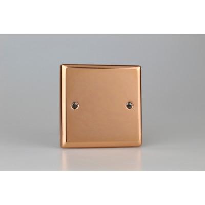 Varilight Copper Single Blank Plate