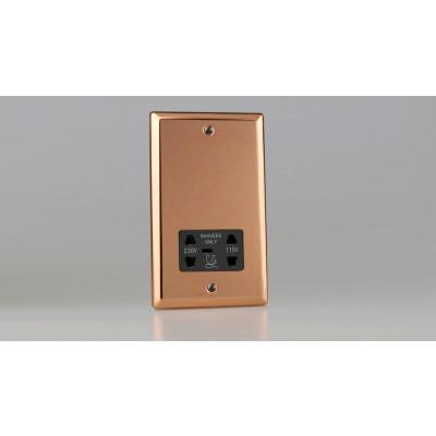 Varilight Copper Dual Voltage Shaver Socket 240V/115V 240V/115V