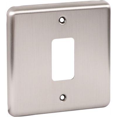 Windsor Brushed Chrome Grid Plates