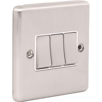 3 Gang Treble 10A Light Switch W03BSW