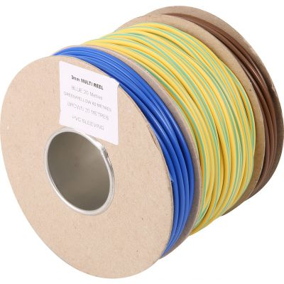 3mm PVC Cable Sleeving - Multi Reel Drum