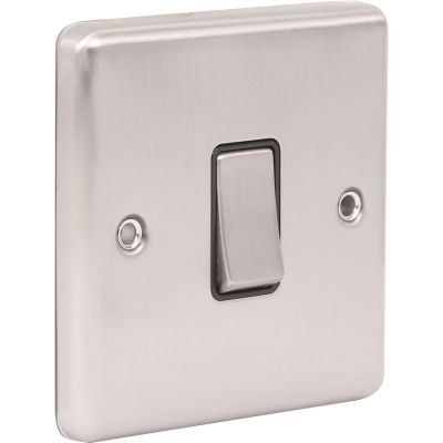 1 Gang Single 10A Light Switch W01BSB