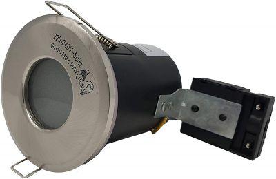 Satin Nickel  - IP65 Shower Downlight Fire Rated