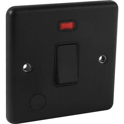Matt Black 20a DP Switch