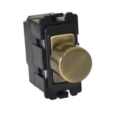 Antique Brass Mini Grid Dimmer Module - DM400AB