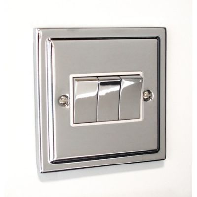 3 Gang Treble 10a Light Switch R03PCW