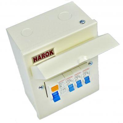Harok - Amendment 3 Metal Garage Unit 5 Way C/w 63A RCD 6A, 16A & 32A MCB - VUEP907