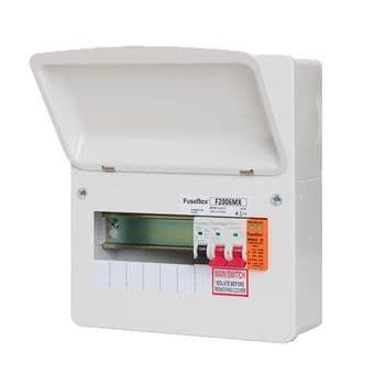 FuseBox F2006MX 6 Way RCBO Consumer Unit + Surge Protection