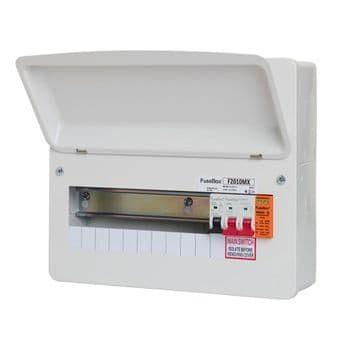 FuseBox F2010MX 10 Way RCBO Consumer Unit + Surge Protection