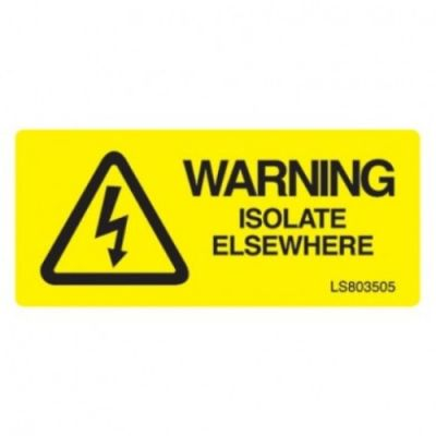 Warning-Isolate-Everywhere-Safety-Label-Pack-of-10-VUEP020