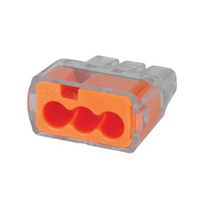 Ideal In-Sure Push-In 3-Port Wire Connector Pack of 100