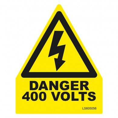 Triangle-Danger-400-Volts-Safety-Label-Pack-of-10-VUEP007