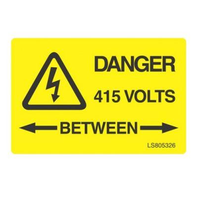 Danger-Between-415-Volts-safety-Label-Pack-of-10-VUEP008