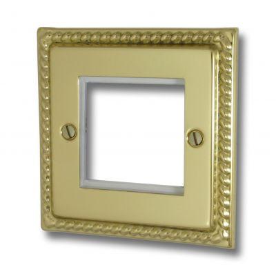 Data Module Plates - Georgian Polished Brass