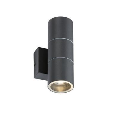 230V IP54 GU10 Up and Down Wall Light - Anthracite