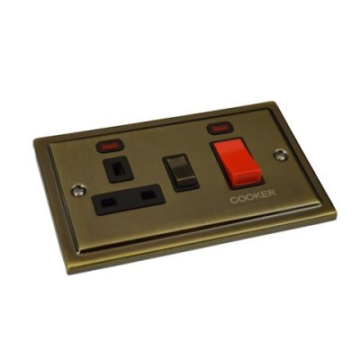 45A-Cooker-Switch-With-Socket-R41AB