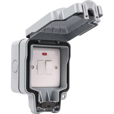 1 Gang 13a Switch Fuse Spur Outdoor Weatherproof