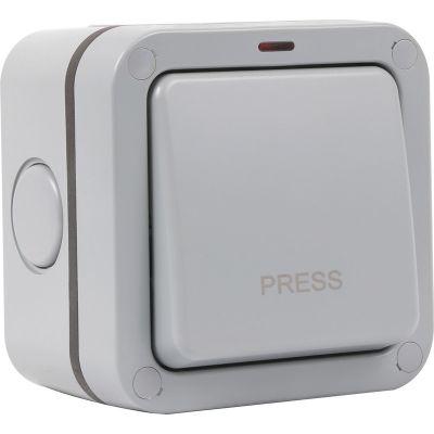 1 Gang Push Retractive Outdoor Weatherproof Switch
