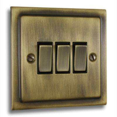 Victorian-3-Gang-Treble-10a-Light-Switch-Antique-Brass