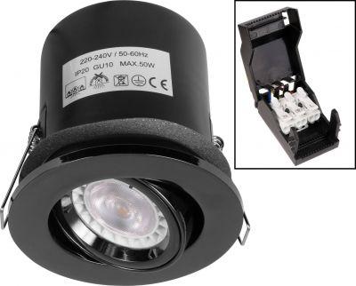 Black Nickel Tilt/Adjustable Fire Rated Downlight