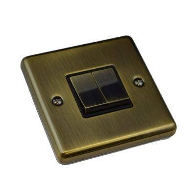 antique-brass-2-gang-light-switch-windsor-w02ab