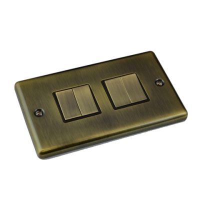 antique-brass-4-gang-light-switch-windsor-w04ab