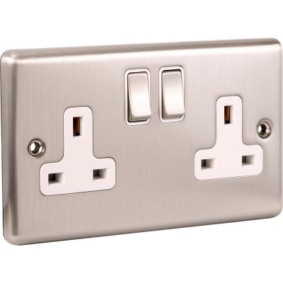 Double 2 Gang 13a Socket W07BSW