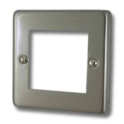 Data Module Plates - Windsor Brushed Steel Black