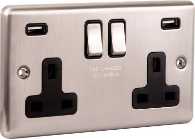 USB - Twin Ports 4.8a - W66BSB