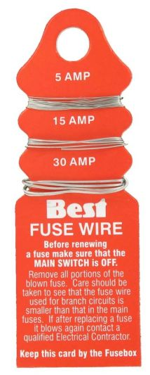 Fuse Wire 5-15-30amp Carded Fuse Wire