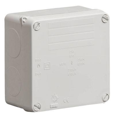 Wiska-Surface-Sealed-Box-IP65-Grey-110-x-110-x-60-815LH
